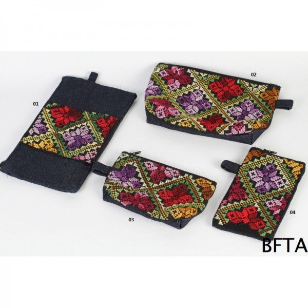 Embroidered Jeans Set – Coin Case