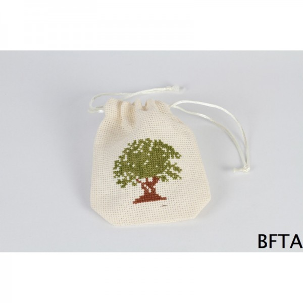 Embroidered Sack with Green Tree