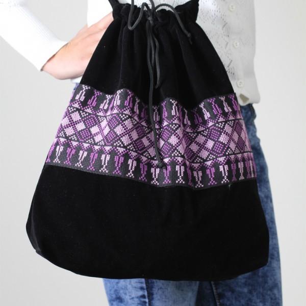 Embroidered Bag – Light and Dark Purple Thread