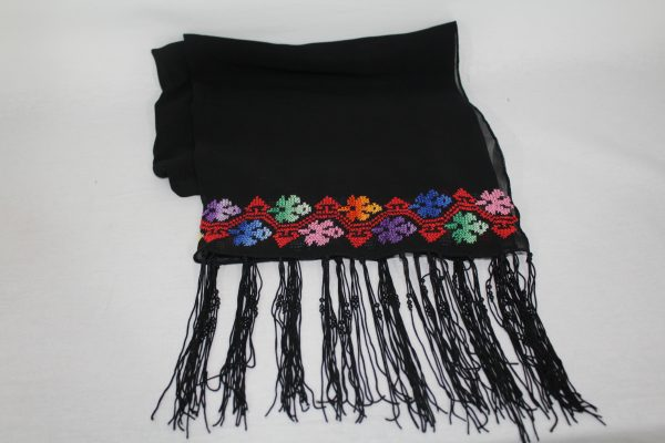Embroidered shall Silk – Black, Red, Blue and Orange