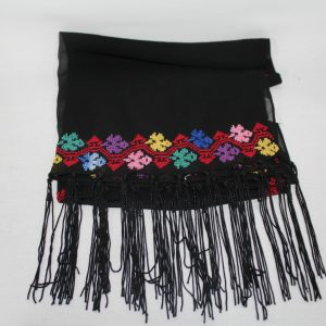 Embroidered shall Silk – Black, Red, Blueand Pink