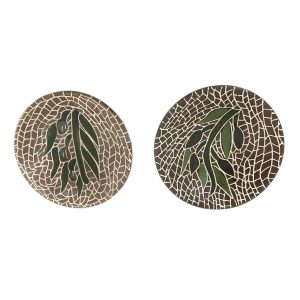 Hand Made Ceramics Bowl - Olives Leaves