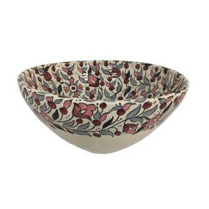 Hand Made Ceramics Fruit Bowl - Pink and Grey
