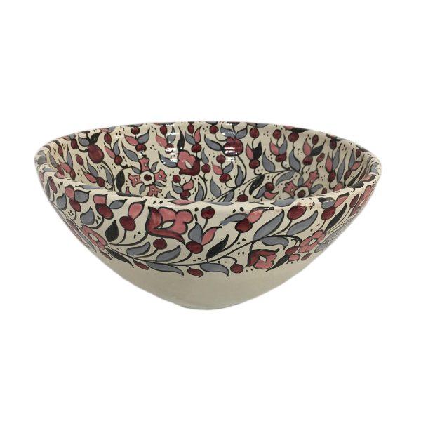 Hand Made Ceramics Fruit Bowl – Pink and Grey