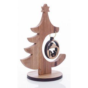 Olive wood hand designed Christmas ornament