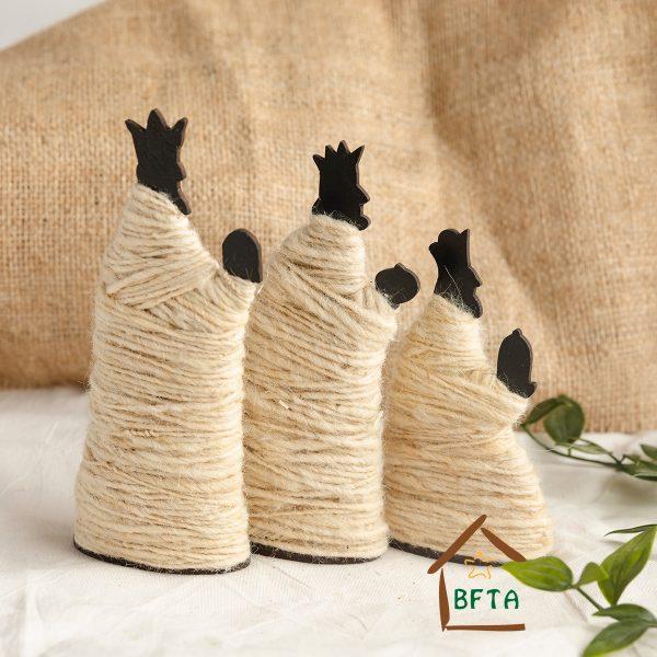 Woven Sheep Wool Three Kings set