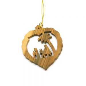 Olive Wood Ornament - Flight to Egypt